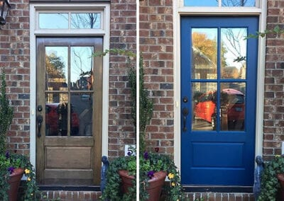 Carrie's Creations Interior Painters | Charlotte, NC | Painted Door Belmont North Carolina