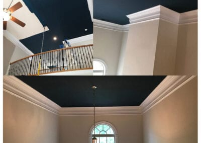 Carrie's Creations Interior Painters | Charlotte, NC | before and after ceiling walls accent color