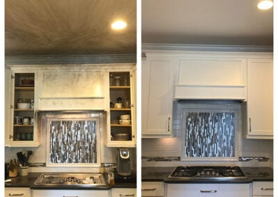 Carrie's Creations Interior Painters | Charlotte, NC | Painted Kitchen White before and after