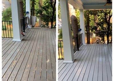 Carrie's Creations Interior Painters | Charlotte, NC | painted porch before and after