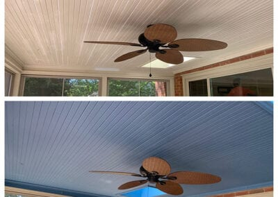 Carrie's Creations Interior Painters | Charlotte, NC | Porch Ceiling Paint Charlotte NC before and after
