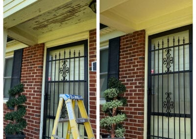 Carrie's Creations Interior Painters | Charlotte, NC | Painted Porch Ceiling before and after