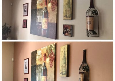 Carrie's Creations Interior Painters | Charlotte, NC | Gastonia North Carolina accent wall before and after